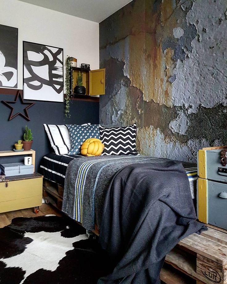 design bedroom%0A Industrial Bedroom  Bedrooms  Creative Decor  Home Decor  Diy Interior   Kitchen Living  Homemade Home Decor  House Design  Diy Room Decor