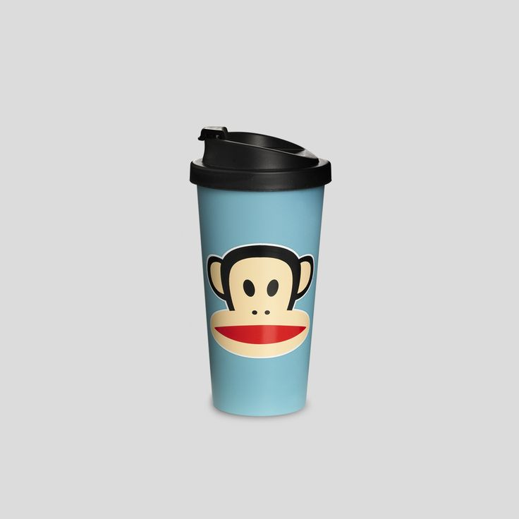 Paul Frank to-go cup - pink - by ROOM COPENHAGEN. More Paul Frank lunch and picnic products at www.roomcph.com