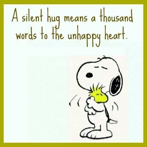 Snoopy love Hug then smile = you'll feel happier and so will the recipient of the hug ⭐️