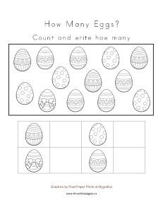 Easter Egg Counting Freebie