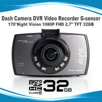"Dash Cam Camera DVR Video Recorder G-sensor 170°Night Vision 1080P FHD 2.7"" TFT 32GB"