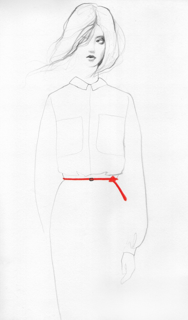 Fashion Illustration on Illustration Served