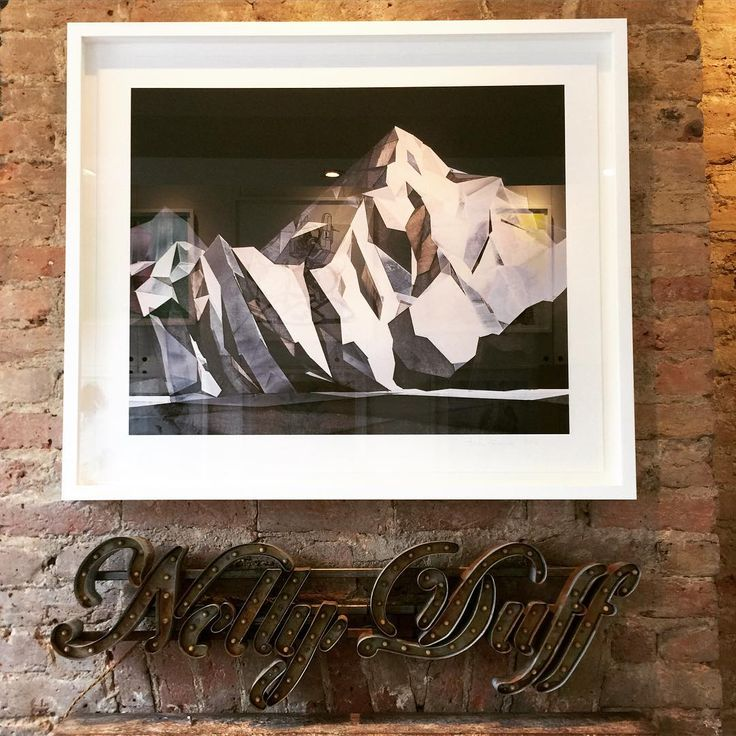 Torben Giehler's framed 'K2' on display at #NellyDuff's Columbia Road gallery.