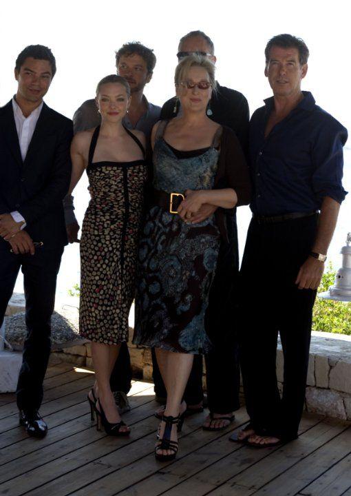 Pierce Brosnan, Colin Firth, Meryl Streep, Dominic Cooper and Amanda Seyfried at event of Mamma Mia! (2008)