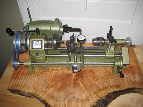 Unimat Micro Lathe On Decorative Wood Base Tools Art