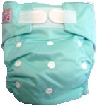 Happy Babes AQUA One Size Nappy is a Modern Cloth Nappy (MCN) that can be worn from birth to toilet training. The One Size Nappy has plastic snaps on the front of the nappy allowing the rise of the nappy to be adjusted as your baby grows from birth to toilet training. Pocket Nappies consist of a waterproof outer which is usually a polyurethane laminated polyester and a cotton micofibre lining that is extremely soft against the baby's skin.