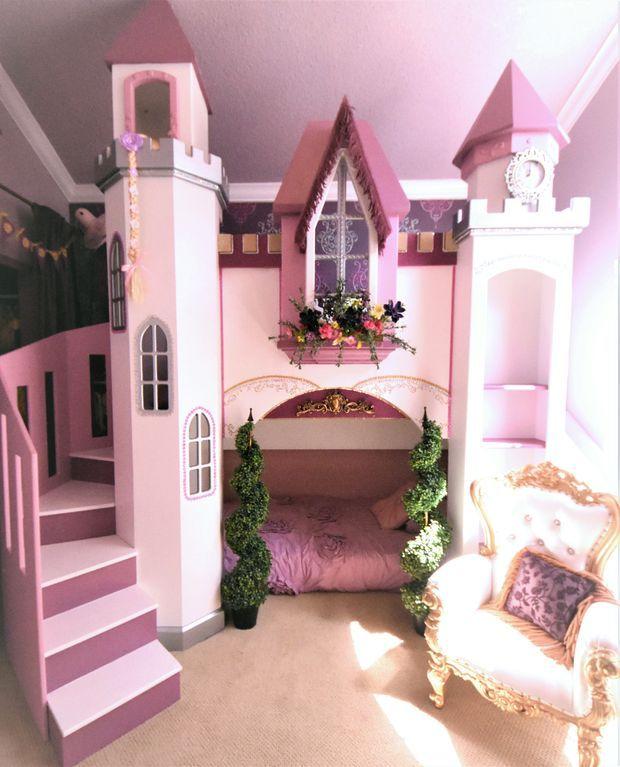 Princess Castle Bunkbed Sleeps 2 On Twins Slide Toys Dolls And