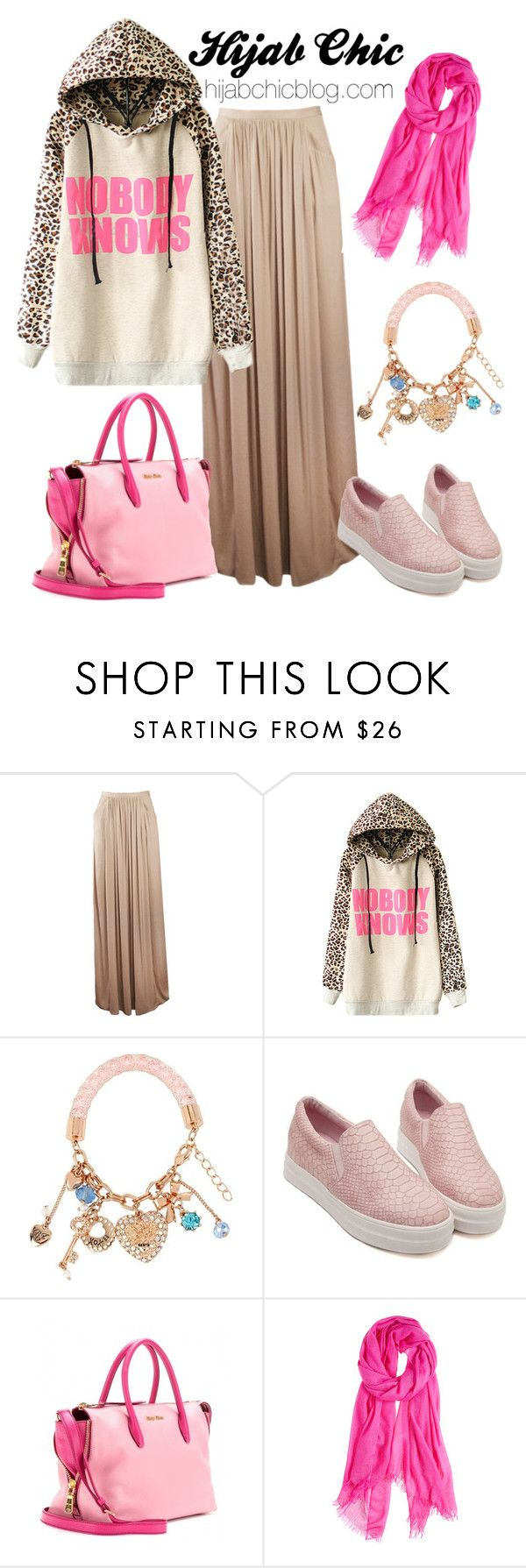 """""""hijabchicblog.com"""" by hijab-chic on Polyvore featuring Betsey Johnson, Miu Miu and Calypso Private Label"""