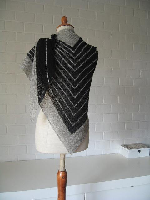 Maanel's featherweight stripe study shawl via Ravelry