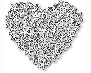 Impression Obsession Dies, Floral Lace Heart
