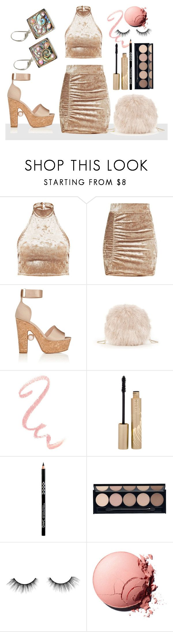 """Club Crush"" by avagoldworks ❤ liked on Polyvore featuring Nicholas Kirkwood, Sole Society, Stila, Witchery, tarte and avagoldworks"