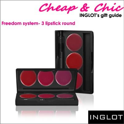3 lipstick round freedom system pallete