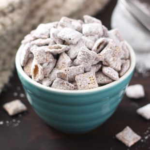 """Another popular name for this favorite mix is """"puppy food"""". Chow down; it's doggone good! Ingredients 9 cups Rice Chex™, Corn Chex™ or Chocolate Chex™ cereal (or combination) 1 cup semisweet chocolate chips 1/2 cup peanut butter 1/4 cup butter or margarine 1 teaspoon vanilla 1 1/2 cups powdered sugar Steps Into large bowl, measure …"""