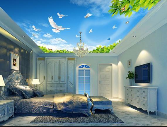 3d Bubble Sky Ceiling Wallpaper Murals Wall Print Decal Aj Wallpaper Us Ceiling Murals Cloud Wallpaper Bedroom Wall Wallpaper