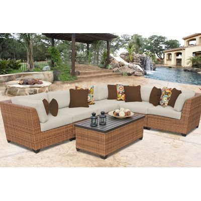 sol 72 outdoor waterbury 7 piece sectional seating group with rh pinterest com