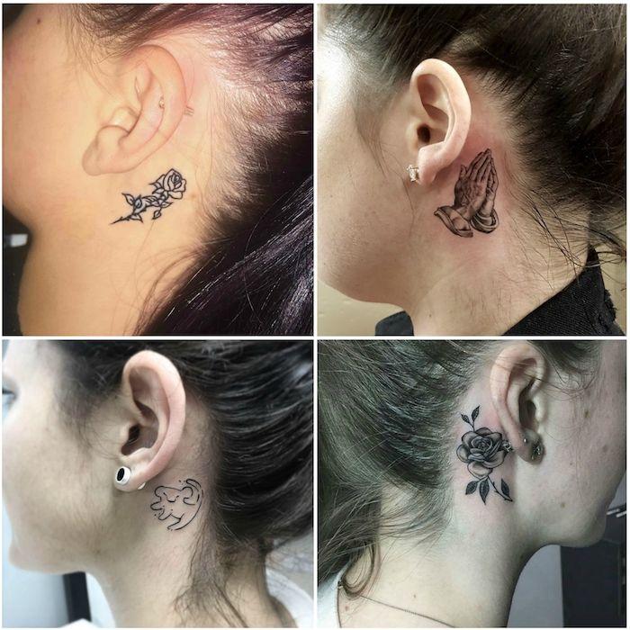 1001 + Ideen und Bilder zum Thema Tattoo hinterm Ohr