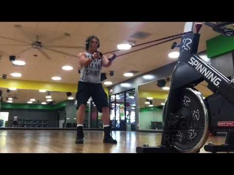 Band Squat and Curls. Here's another quick sample of my Online Video Personal Training Program. Train with me from anywhere in the world. Your workouts will be tailored to you by me. Message me for your free trial workout   larryflemingpersonaltrainer.com/online-training