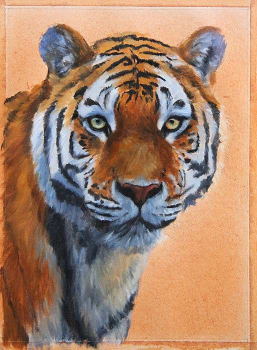 How To Paint A Tiger Art Supplies And Techniques Tiger