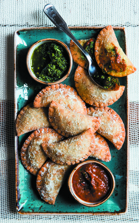 And though we have never met an empanada we didn't love, this chorizo and potato recipe by chef Aarón Sánchez is seriously mouthwatering.