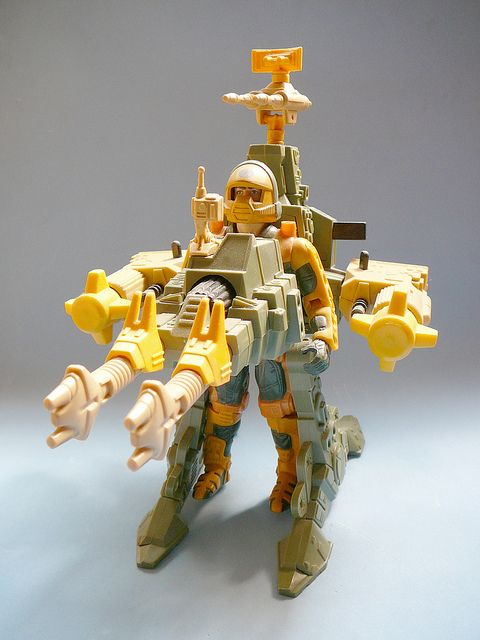 """Jake Rockwell and his combat-heavy Detonator suit, from the """"Centurions"""" line of toys"""