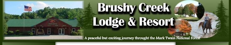 Another great destination for horse trails & camping! Located in Black, MO. They have great campsites, stalls, food & trails!  Brushy Creek Lodge & Resort