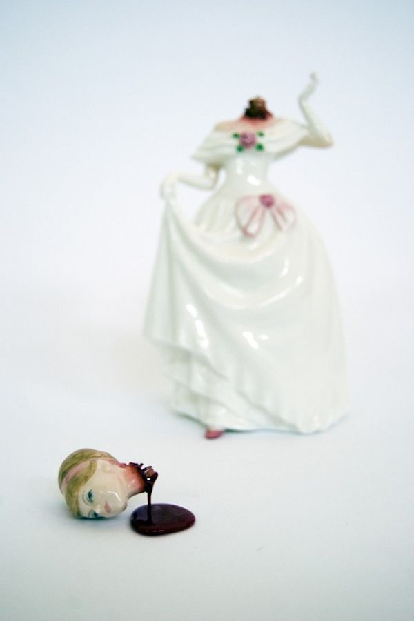 Super creepy ceramics. Beheaded cake toppers, anyone?