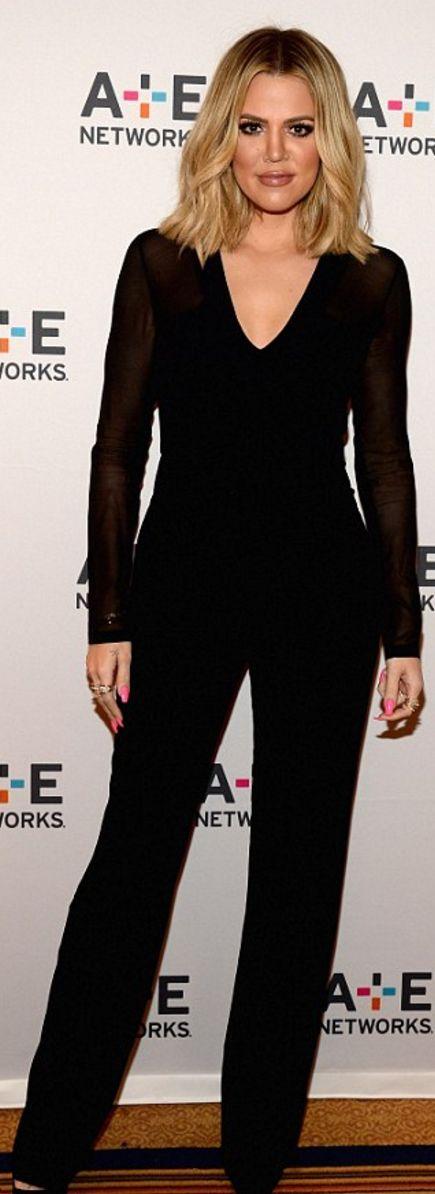 Khloe Kardashian: Jumpsuit – Cushnie et Ochs  Shoes – Christian Louboutin