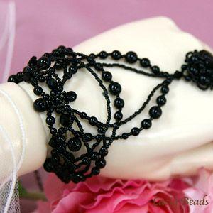 Список платье браслет черный черный ручной комплект невесты свадьба Жемчужина Махаон