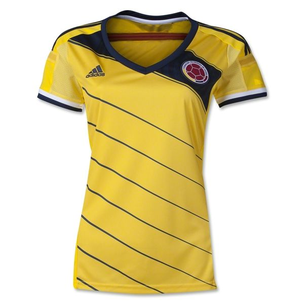 Colombia 2014 Women's Home Soccer Jersey...as my country is going to the World Cup 2014 I really wish to get the official jersey so I can support them as a true fan !!