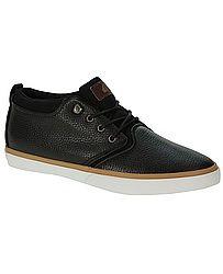 ### boty Quiksilver Griffin FG - Black/Brown/White ### Pánské elegantní skate boty Quiksilver. Povrch bot je z hladké kůže. Boty mají kovové průvlaky pro snadnější šněrování. Dále pak poutko v zadní části, vyjímatelnou měkkou stélku pro pohodlnější dopad, zpevněnou patu, pevnou vulkanizovanou podrážku pro lepší odolnost a trvanlivost. Na jazyku je kožená nášivka s logem značky. Balení obsahuje náhradní tkaničky bílé barvy.