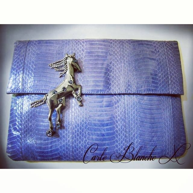 AngelJackson# and MatinaAmanitaForSretsis# Large Foldover Clutch (Bluebell) - - - > [ http://www.carteblanche-x.com/shop/angel-jackson/543-large-foldover-clutch-bluebell.html ]  Pony Galaxy Brooch (Black Rhodium) - - - > [ http://www.carteblanche-x.com/shop/manita-amanita-for-sretsis/530-pony-galaxy-brooch-black-rhodium.html ]