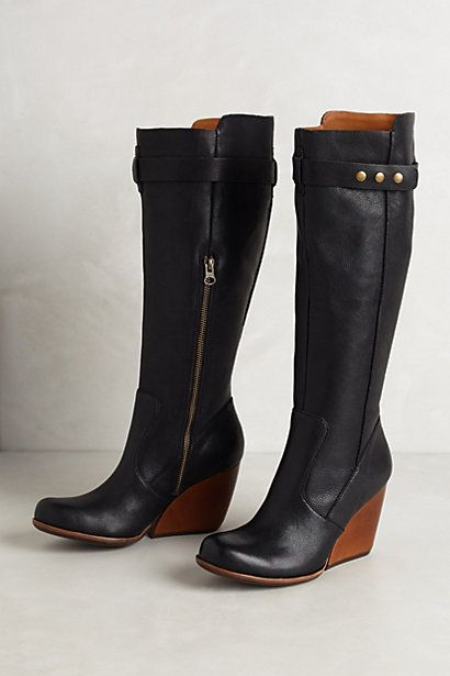 Brass Tacks Boots #anthropologie   love wedge  boots!!