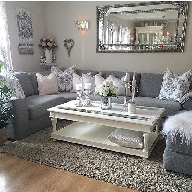 Grey is the new beige! Beautiful shag area rugs.