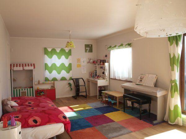 マリメッコのカーテンがあるインテリアを部屋別に紹介します。リビング、キッチン、ダイニング、洗面所、子供部屋、気になるものはありましたか?