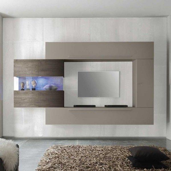 Wohnwand Anbauwand Schrankwand Wohnzimmer Thomson Eiche Living Room Tv Unit Designs Tv Unit Furniture Modern Tv Wall Units