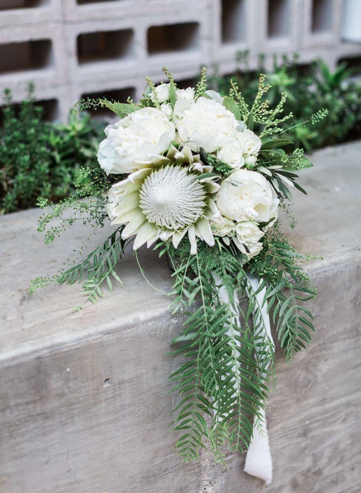 Protea wedding bouquet #weddingbouquet @weddingchicks