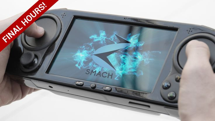 SMACH Z is a handheld PC with haptic touchpad controls that's powerful enough to play any AAA game natively (10K games out of the box)!