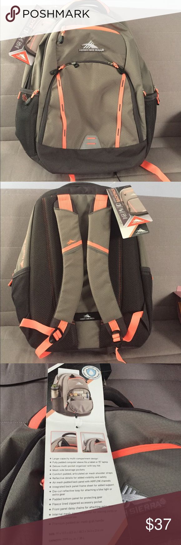 Backpack High Sierra laptop backpack. Bags Backpacks