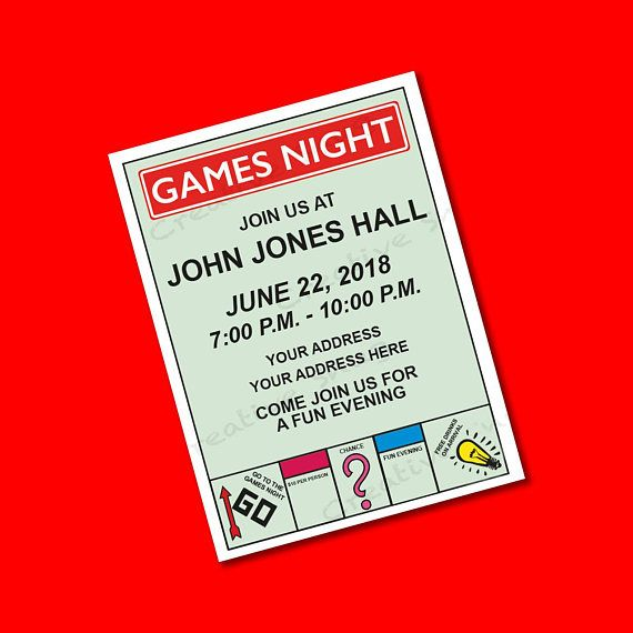 A3 Monopoly Styled Poster Personalized For You To Self Print Board Game Themed Party Size Can Be Monopoly Themed Parties Board Game Party Board Game Themes