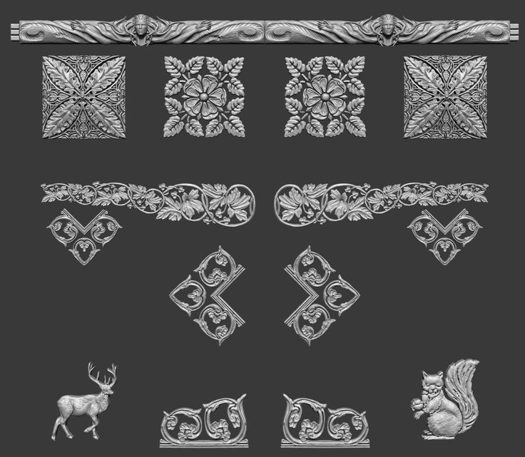 ArtStation - Animae Iconography Decorative Panels, Cliff Schonewill