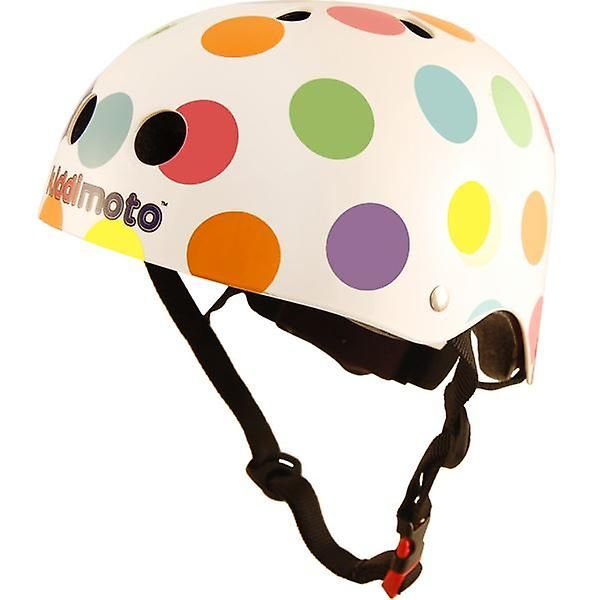 Kiddimoto Helmet - Pastel Dotty available in small or medium These child's bike helmets bring style and safety together and are multifunctional Not only can you use these on your Balance Bike but you can use them for cycling, skating, anythingThe vents in the helmet keep you cool whilst you're whizzing along and the extra pads give a comfortable personal fit to your head. Kiddimoto's range of funky fun child's bike helmets will give your toddler a super-cool look while helping to keep them…