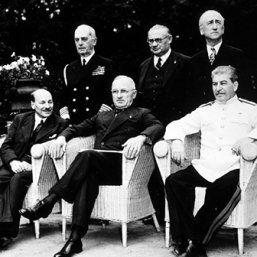 Potsdamer Konferenz, 70. Jahrestag am 14. Juli 2015 Copyright: bpk / Voller Ernst - Fotoagentur / Jewgeni Chaldej