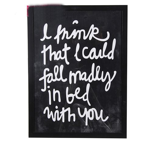 I think i could fall madly in love with you plaque