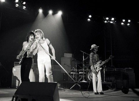 Rod Stewart with Ron Wood and the Faces, October 16, 1973, Anaheim Convention Center, Anaheim, California
