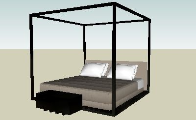 B Italia Maxalto - ACLE Bed and complements by Electrical Storm - 3D Warehouse