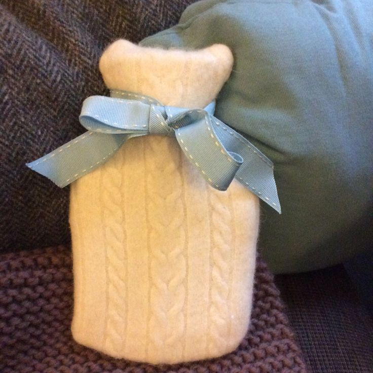 Got the blues this Christmas. Keep warm and toasty with our recycled hot water bottle and cover.
