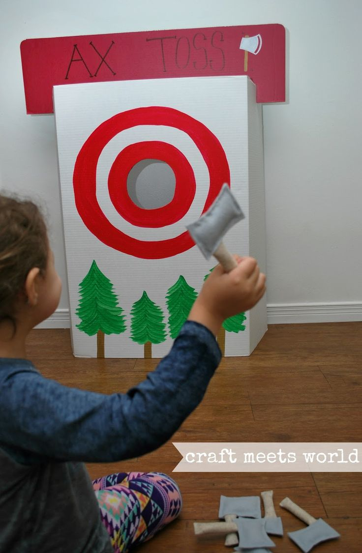 Craft Meets World: DIY 'No Sew' Axes and Ax Toss Game for Lumberjack Party