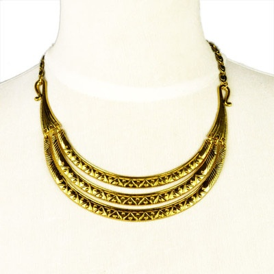 Vintage Jewellery Gold Colour Collar Necklace Choker Necklaces, NL-1809
