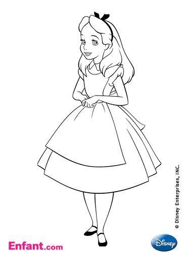 Coloriages à télécharger: Coloriages Disney : Alice au pays des merveilles - Enfant.com