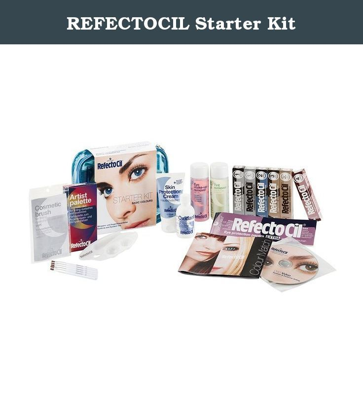 REFECTOCIL Starter Kit. REFECTOCIL Starter Kit contains everything needed for hair tint treatments. Includes: Longlash Gel.23 oz., 6 REFECTOCIL Tints: Black, Graphite, Blue Black, Light Brown, Chestnut and Natural Brown - .5 oz. each, Oxidant 3% 1.69 oz., Eye Protection Papers 80-ct., Skin Protection Cream 2.53 oz., 5 Mini Tinting Dishes, 5 Application Sticks, 5 Cosmetic Brushes, Demaquillant Make-Up Remover 3.38 oz., Color Cleanser Stain Remover 3.38 oz., 2 Color Charts. Everything you…